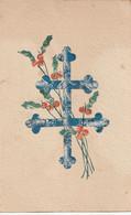 CPA Collage Timbres Découpés : Croix De Lorraine - Otros