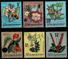 Guyana 1971-76,Michel# 398,472,402,497,407,408 O Flowering Plants - Guyana (1966-...)