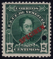 ✔️ Venezuela 1915 - Simon Bolivar SPECIMEN Overprint In Red - Mi. 96 A 127  ** MNH - Depart 1€ - Venezuela