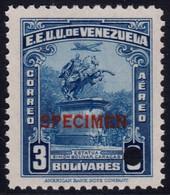 ✔️ Venezuela 1947 - Air Mail  SPECIMEN Overprint In Red - Mi. 495 ** MNH - Depart 1€ - Venezuela