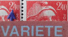 """R1507/414 - 1945/1947 - TYPE MARIANNE DE GANDON - (PAIRE) - N°714 NEUFS** VARIETE ➤➤➤ Impression Partielle Du """" 2f40 """" - Varietà: 1945-49 Nuovi"""