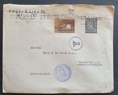 Finnland 1943, Brief MiF Helsinki Gelaufen Deutschland - Brieven En Documenten