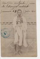MADAGASCAR ( N°43 X2 )Sur CPA  PHOTO-MUSICIEN Malgache Jouant Du  Lokanga Voatavo  RARE  Circulée 30 JUIN 1903 - Madagascar