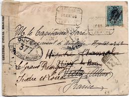 Espagne 1916 Enveloppe Pour Le Grand Ressigny  Censurée - Nationalistische Censuur