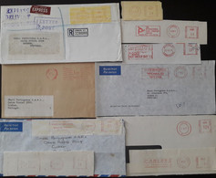 United Kingdom - Advertising METER Franking - 5 Covers + 5 Cuts - Briefe U. Dokumente