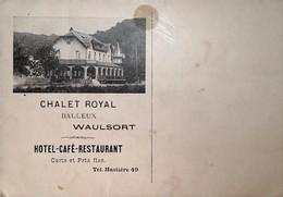 H 1  Courrier/facture / Document Entete Restaurant à Waulsort  Timbres Au Dos - Deportes & Turismo