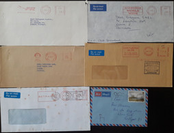 United Kingdom - Advertising METER Franking - 6 Covers - Briefe U. Dokumente
