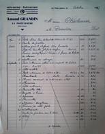 H 1  Courrier/facture / Document Entete Menuiserie à La Poiteviniére - Sin Clasificación