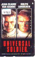 Télécarte Japon * CINEMA * FILM * JEAN CLAUDE VAN DAMME / LUNDGREN (4382) UNIVERSAL SOLDIER * MOVIE *  JAPAN * Kino - Cinéma