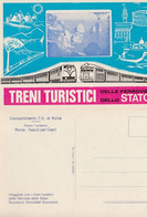 TRENI TURISTICI FERROVIE STATO ROMA NAPOLI X CAPRI V152 - Publicité