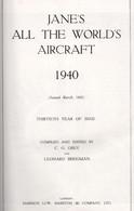 JANE'S ALL THE WORLD AIRCRAFT 1940 AVIATION ARMEE AIR RAF USAAF LUFTWAFFE - 1939-45