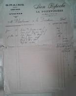 H 1 Facture/document Entete Grains à  La Poitevinière - Agricultura