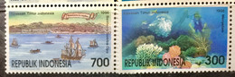 INDONESIA 1996 MNH STAMP ON STIMULERINGTOERISME ,TOURISM 2 DIFFERENT STAMP - Indonesia