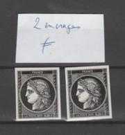 """FRANCE / 2019 / Y&T N° 5305A ** : """"Cérès 0.20 €"""" Du Coffret Prestige. Variété 2 Encrages Différents X 1 Paire - Abarten: 2010-.. Ungebraucht"""