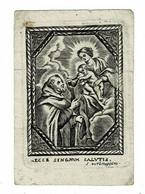 ECCE SINGNUM SALUTIS  -  Oude Kopergravure / Ancienne Gravure Sur Cuivre /  Old Copperplate  - Grav. VERBRUGGEN - Santini