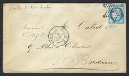 """FRANCE 1873: LSC De Paris Pour Bordeaux Avec Le Y&T 60A, Obl. étoile """"2"""" - 1871-1875 Cérès"""