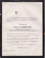 LAEKEN CONSTANTINOPLE GLAVANY-BEY Faustin 1829-1879 Famille Van WILLIGEN BORREMANS - Obituary Notices