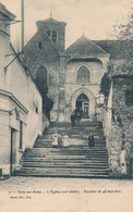 94) IVRY-sur-SEINE : L'église - Escalier De 46 Marches - Ivry Sur Seine