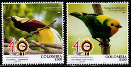 A082 - KOLUMBIEN - 2020- MNH- BIRDS - COLOMBIA-INDONESIA INTERNATIONAL RELATIONSHIPS - Colombia