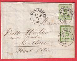 ALSACE LORRAINE N°4 X2 MARIAKIRCH SAINT MARIE AUX MINES HAUT RHIN 17.3.1871 MULHOUSE - Alsace Lorraine