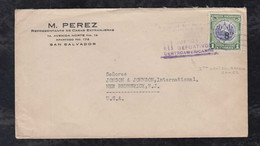 Salvador 1934 Cover To NEW BRUSWICK USA 3rd Central America Games Special Postmark - El Salvador