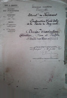 H 1 Facture/document Entete Ponts Et Chaussées Construction D'une Cale à Beg Meil (29) Dessins Plans Piece Unique - 1800 – 1899