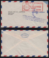 Salvador 1952 Meter AIRMAIL Cover To Netherlands AIRMAIL ONLY TO NEW ORLEANS PM - El Salvador