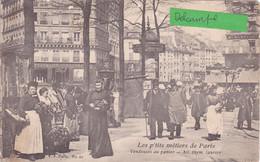 75-PARIS-Les P'TITS METIERS De PARIS- VENDEUSES Au PANIER-AIL,THYM,LAURIER-ECRITE-1906-ANIMEE-     (16/4/21) - Shopkeepers