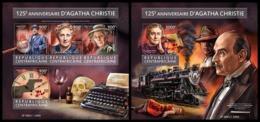 CENTRAL AFRICA 2015 - Agatha Christie - YT CV=40 €, 3956-9 + BF861 - Writers