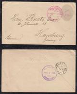 Nicaragua 1890 Stationery Envelope 10c MANAGUA To HAMBURG Germany - Nicaragua