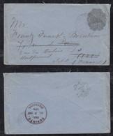 Nicaragua 1892 Stationery Envelope 10c MANAGUA To PARIS France Forwarded - Nicaragua