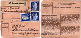 1/2/1943 Paketkarte - Départ Gelsenkirchen 8- Pour Waldheim - Briefe U. Dokumente