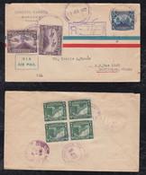 Nicaragua 1932 Registered Airmail Cover MANAGUA To HARLINGEN USA - Nicaragua