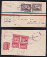 Nicaragua 1933 Registered Airmail Cover MANAGUA To HARLINGEN USA - Nicaragua