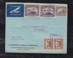 Nicaragua 1933 PAN AMERICAN Airmail Cover MANAGUA To NOTTINGHAM England - Nicaragua