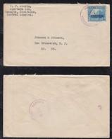 Nicaragua 1935 Cover Overprint Stamp MANAGUA To NEW BRUSWICK USA Johnson & Johnson - Nicaragua