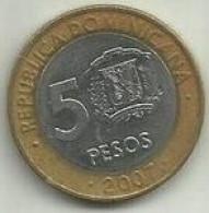 E-5 Pesos 2007 Republica Dominicana - Dominicana