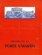 PROGRAMME  DU THÉATRE DE LA PORTE ST MARTIN  . BONSOIR MADAME PINSON . SAISON  1963 1964 - Programma's