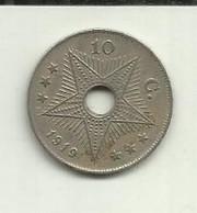 E-10 Centimos 1919 Congo Belga - 1910-1934: Albert I