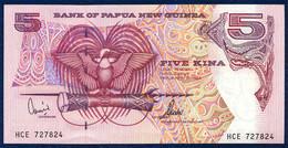 PAPUA NEW GUINEA 5 KINA P-13d SIGNATURES: Kamit + Tarata 1992 - 2000 UNC - Papua New Guinea
