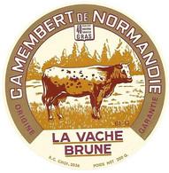 ETIQU. LA VACHE BRUNE 61-G ORNE - Cheese