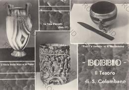 """CARTOLINA  BOBBIO,PIACENZA,EMILIA ROMAGNA,LA TECA D""""AVORIO,TAZZ E COLTELLO DI S.COLOMBANO,STORIA,MEMORIA,NON VIAGGIATA - Piacenza"""