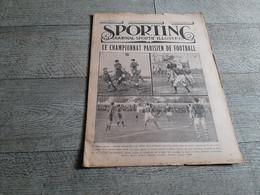 Sporting Journal Sportif Illustré 1925 Championnat Parisien Paris  Football Automobile Rugby Boxe - Sport