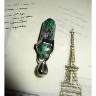 Rubis Fuschite Pierre Naturelle Pendentif 3 Cm Bien être Et Santé ( 30092020 2) - Minerals