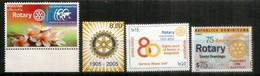 Rotary International Commemorations.  4 Timbres Neufs ** (Dominicaine,Estonie,Bangladesh,Pakistan) - Rotary, Lions Club