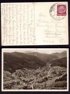 WQ239    Postkartenstadt Sulzburg Baden, Reiste Nach Saas Grund Schweiz, Sonderstempel 1933 - Cartas