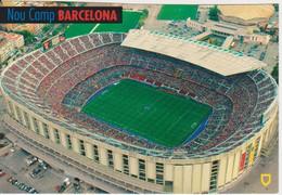 BARCELONA STADION STADIUM STADE NOU CAMP SPAIN POSTCARD USED - Fussball