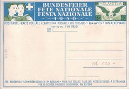 Carte Fête Nationale 1930, Entier Postal Aviation 40 Ct Non Ciculé (4032) 10x15 Petit Pli  D'angle - Airships