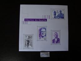 """FRANCE 2020 BLOC FEUILLET  """" CHARLES DE GAULLE  1890 - 1970 GÉNÉRAL DE GAULLE """", Neuf** 4 TIMBRES GOMMÉS DENTELÉS - Mint/Hinged"""