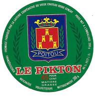 ETIQU. FROM.LE PIKTON LAIT. Du Vieux Château GENCAIS 86 - Cheese